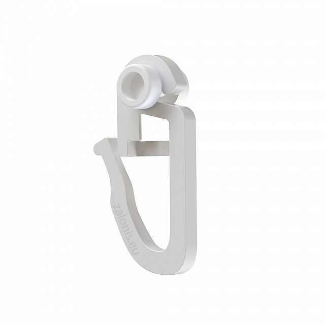 CURTAIN RAIL CLIP WITH SMALL ROLLER